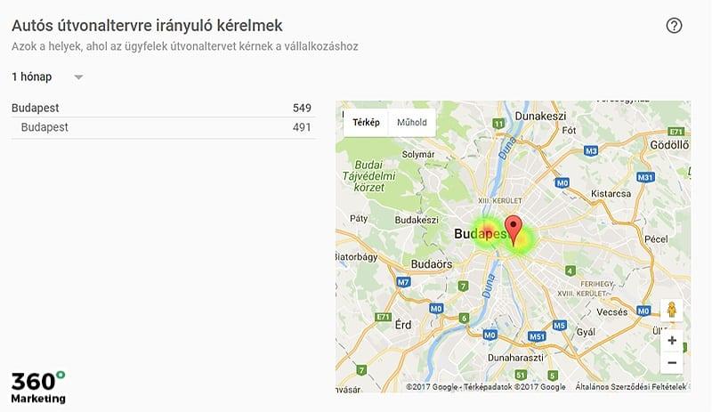 Google Cégem útvonaltervezés vállalkozásához