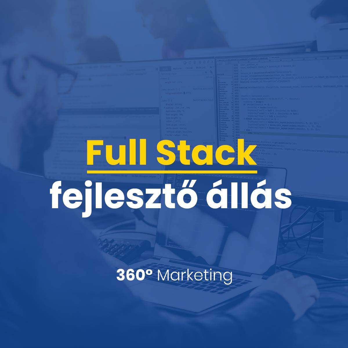 Full Stack fejlesztő