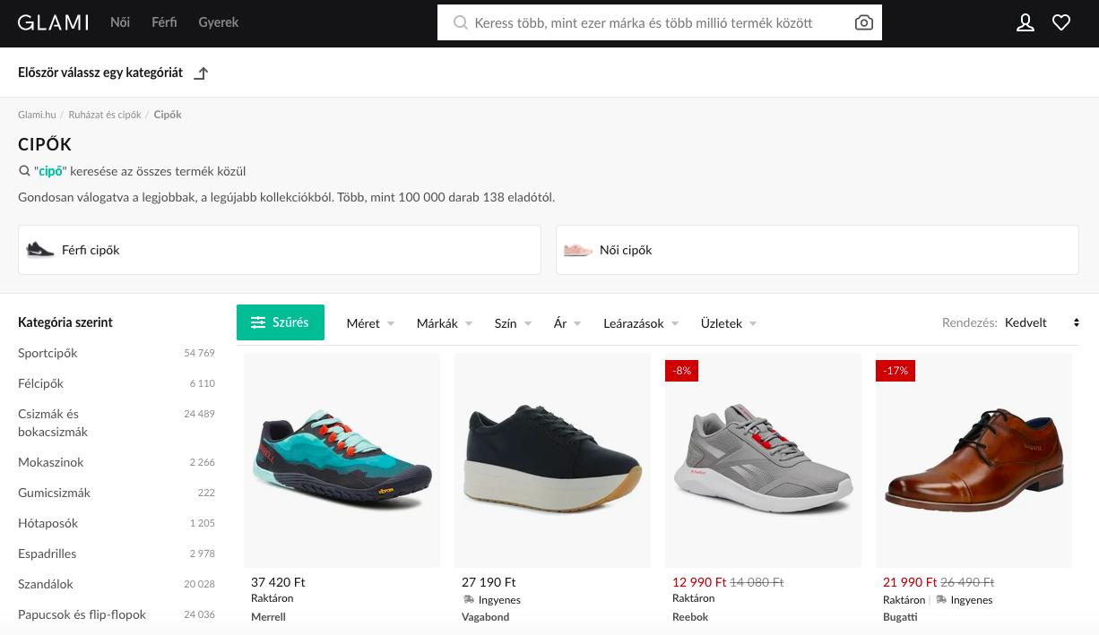 Ruha rendelés - árukereső oldal