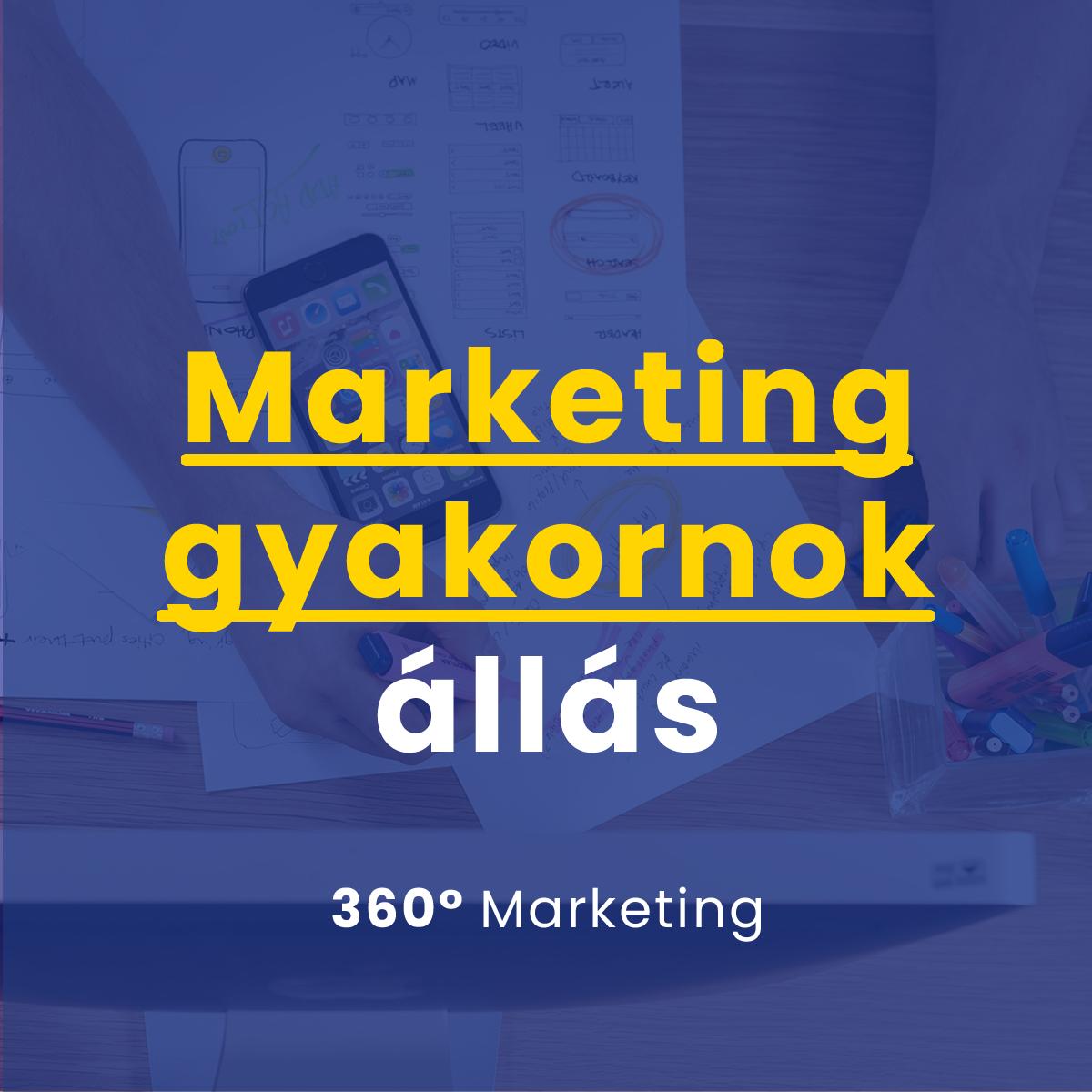Marketing gyakornok állás