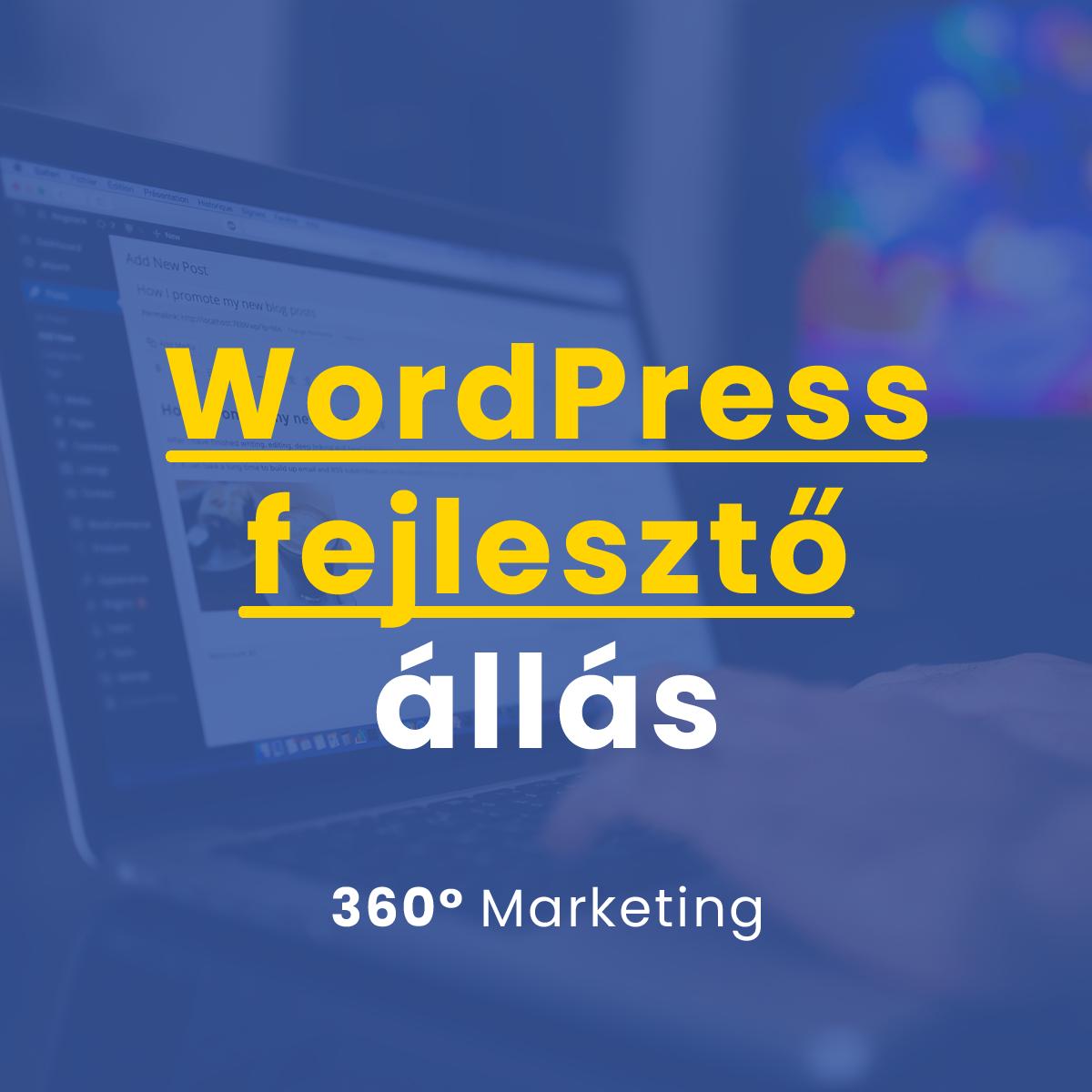 WordPress fejlesztő állás