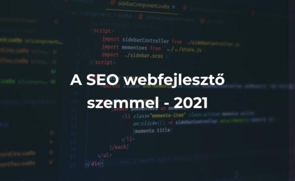 A SEO webfejlesztő szemmel